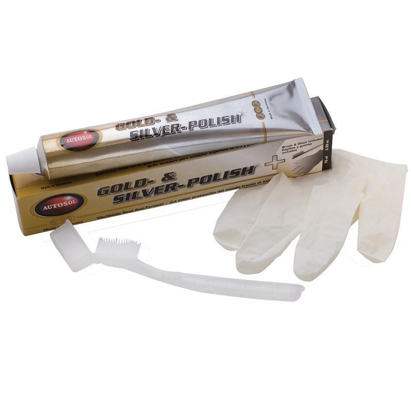Полироль для серебра, перчатки и щетка